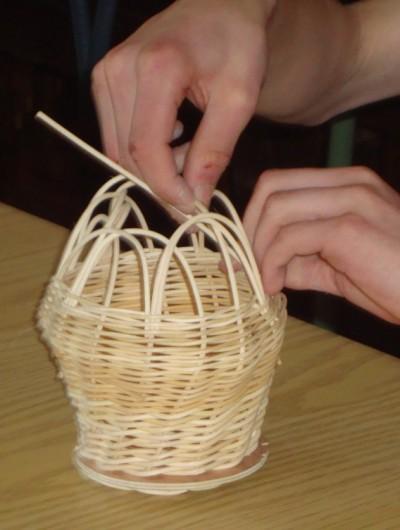actividades escolares, cesteria