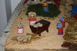Belén navideño, panadera