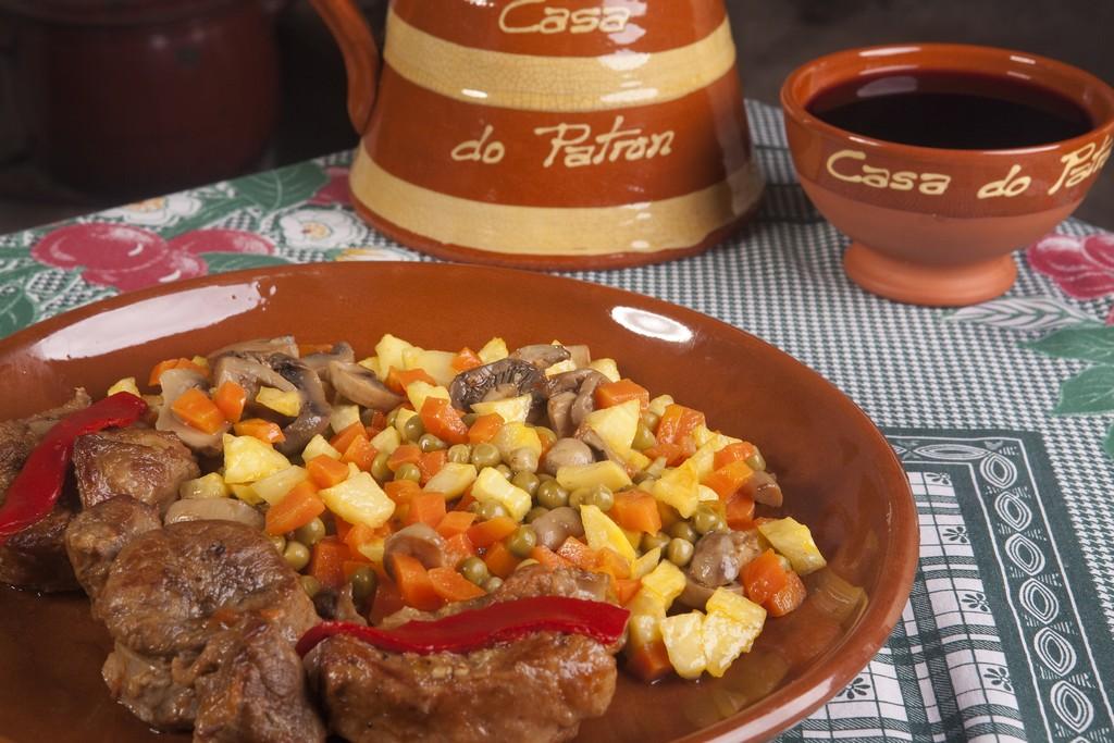 Comida casera en el restaurante casa do patr n Menu comida casera