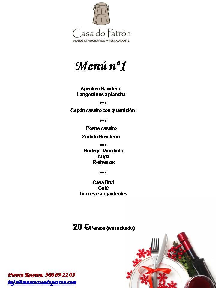 Comidas y cenas navidad 1